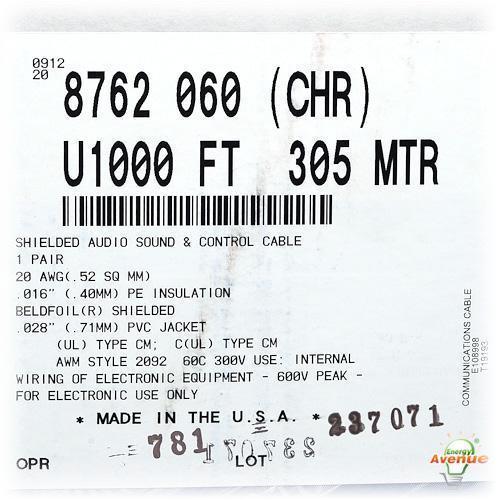 belden 8762 060u1000 chrome color multi